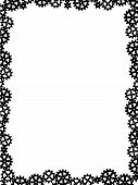 vector different gears black like frame