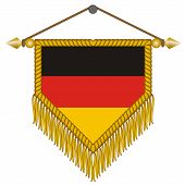 vector pennant with the flag of Germany