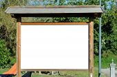 Blank bill board in the park to be filled