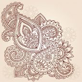 Henna Mehndi Doodles Abstract Floral Paisley Vector Illustratie ontwerpelement