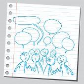 Group of people speaking something