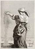 Постер, плакат: Итальянка Ветер зерноочистительного в римскую сельскую местность Созданный Леманн Опубликовано Magasin Pittores