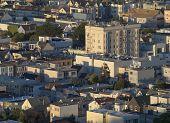 Urban Neighborhood Sunset