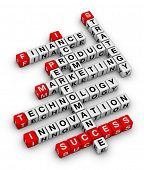 picture of scrabble  - business planning 3d crossword puzzle - JPG