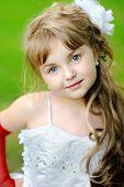 Portrait Of A Beauty And Fashion Princess  Girl