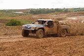 Portalegre, Portugal - November 3: Javier Herrador Drives A Herrator Tomka Evo In Baja 500, Integrat