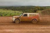 Portalegre, Portugal - November 3: Carlos Almeida Drives A Nissan Pathfinder In Baja 500, Integrated