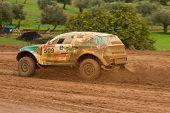 Portalegre, Portugal - November 3: Ricardo Porem Drives A Bomcar S1 Proto In Baja 500, Integrated On