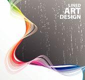 Lined Art Rainbow Flow