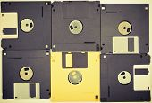 Vintage Diskettes Background