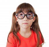 Little Girl In Round Glasses