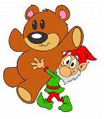 Christmas Elf & Teddy Bear
