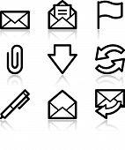 E-Mail Black Contour Web Icons