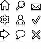 Basic Web Black Contour Icons