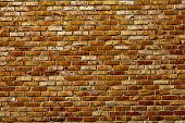 image of row houses  - Old grunge brick wall background - JPG