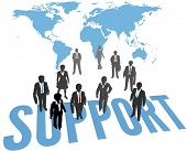Business People provide global enterprise Support Service worldwide