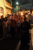 NAZARETH , ISRAEL-SEPTEMBER 30: Every Friday procession goes through the streets of Nazareth, from t