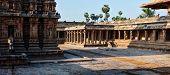 Panorama of Airavatesvara Temple, Darasuram, Tamil Nadu, India. One of Great Living Chola Temples -