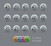Documents Icons - 1 of 2 // Pearly Series -------It includes 5 color versions for each icon in different layers ---------