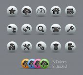 FTP & Hosting Icons // Pearly Series -------It includes 5 color versions for each icon in different