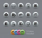 Book Icons // Pearly Series -------It includes 5 color versions for each icon in different layers ---------