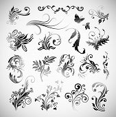 Vector Ornament Flowers Vintage Design Elements