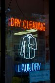 Neon Dry Cleaning Sign