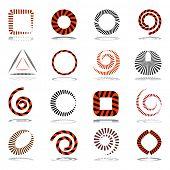 Striped design elements. Shapes set. Vector art.
