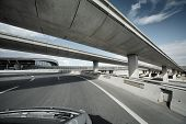 picture of pov  - Driving under overpass road bridges - JPG