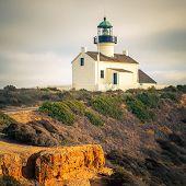 Faro de Point Loma en el Parque Nacional de Cabrillo, San Diego