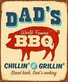 Vintage Metal Sign - Dad's BBQ - JPG-Version