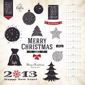 Christmas decoration set for your design