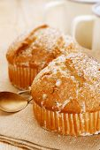 poppy seeds and lemon muffins , shallow dof
