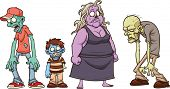 foto of skinny fat  - Cartoon zombies - JPG
