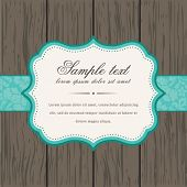 image of ivy vine  - Vector vintage background and frame with sample text - JPG