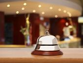 stock photo of porter  - Service bell at the hotel - JPG