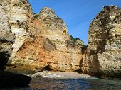 stock photo of vilamoura  - Picturesque Algarve coast between Lagos and the Cap Vincent - JPG