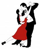 picture of jive  - Abstract vector illustration of latino dancers couple - JPG