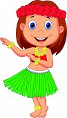 Little Hula Girl cartoon