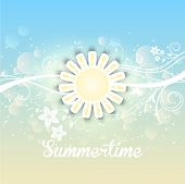 Decorative background with a summery floral design