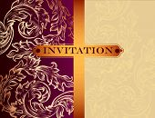 Vintage vector invitation card