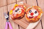 face on mini pizza