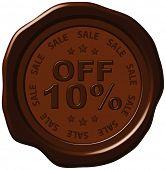 ten percent discount on wax seal
