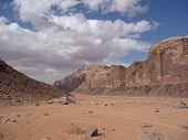 Bleak desert landscape