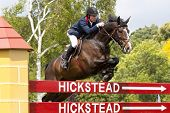 24/06/2011 HICKSTEAD ENGLAND, G I G AMAI ridden by Michael  Whitaker (GBR) competing in the Bunn Lei