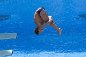 Jul 23 2009; Rome Italy; Troy Dumais (USA) competing in the final round of the men's 3m springboard