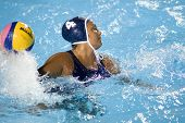 Jul 29 2009; Rome Italy; USA team captain Brenda Villa  competing in the womens waterpolo semi final match between USA and Greece, USA won the match 8-7