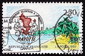 Postage Stamp France 1992 View Of Mayotte