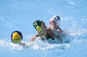 Jul 23 2009; Rome Italy; Melissa Rippon (AUS) and Anna Sieprath (NZL) white cap competing in the wom