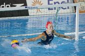 Jul 31 2009; Rome Italy; USA team goalkeeper Elizabeth Armstrong  competing in the final of the womens waterpolo tournament, USA won the match 7-6, at the 13th Fina World Aquatics Championships